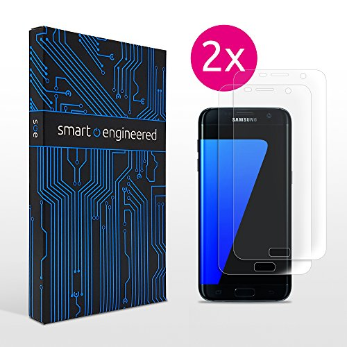 galaxy s7 edge panzerglas Galaxy S7 edge Schutzfolie [2 Stück] Panzerfolie volle Abdeckung [HD-Klar] einfache blasenfreie Aufbringung [Displayschutzfolie transparent] KEIN Glas Schutzglas sondern Samsung S7edge Folie
