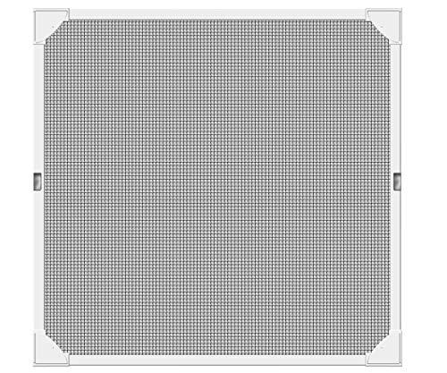 Schellenberg 50747 Magnetic Fliegengitter Magnet-Rahmen, Insektenschutz Fenster, 120 x 120 cm, Weiß