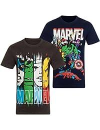 Marvel Comics Official Gift Boys Kids Character T-Shirt Hulk Iron Man Thor