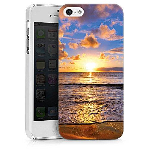 Apple iPhone X Silikon Hülle Case Schutzhülle Sonnenuntergang Meer Wolken Hard Case weiß