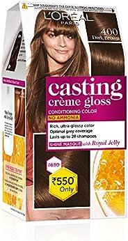 L'Oreal Paris Casting Creme Gloss Hair Color, Dark Brown 400, 87.5g+