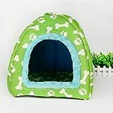 Muodu Maison pour chien chat Lit pliable doux Hiver chaud pour animal domestique Maison Tente dôme chaud Coussin panier