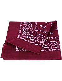 bandana, en cotton, paisley ,bordeaux 100% Cotton 95