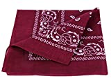 bandana, en cotton, paisley ,bordeaux 100% Cotton 95