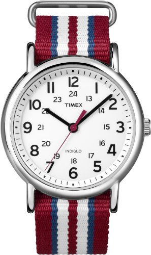 Timex Weekender Indiglo Analog White Dial Unisex Watch - T2N746  available at amazon for Rs.1552