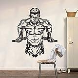 adesivo murale cucina Muscolo Man Gym Gym Sport Decorazione Bodybuilding Men Muscle Training