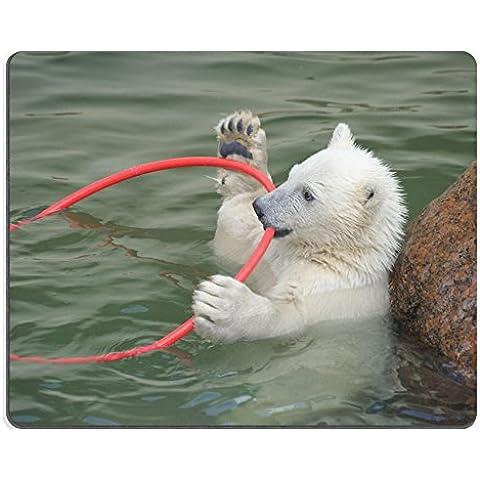 Liili Mouse Pad-Tappetino per Mouse in gomma naturale con immagine ID 7127077 Little white: orso polare, che giocano nell