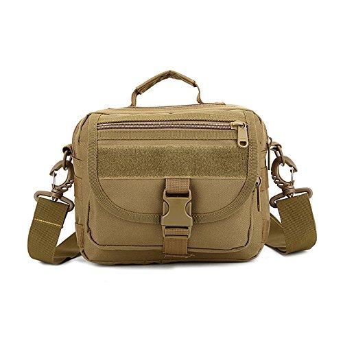 e-jiaen Taille Tasche Handtasche Schulter Tasche für Radfahren Wandern Camping und Verwandte Outdoor Sports oder Werkzeuge Zubehör braun