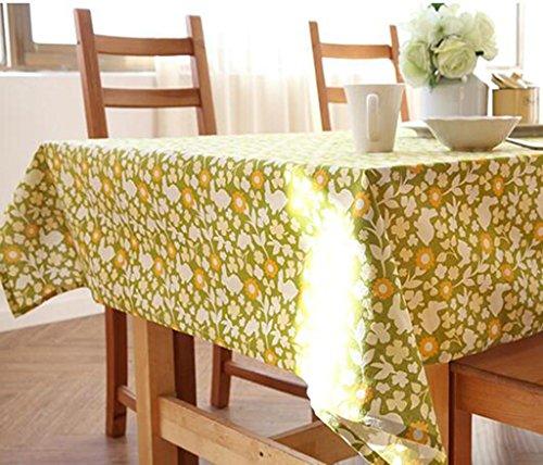 Tischdecke HETAO Rechteck Tischdecke Leinen GrüN Frische Rechteck Waschbar Familie Hotel Abendessen Picknick Tischdecke Verschiedene GrößE , 70*70cm , A Dekoration (Grüne Leinen-tischdecke Rechteck)