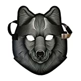 #5: Amosfun Creative Halloween mask led Light Luminous Voice Control Funny mask Halloween Costumes Festival Party Masquerade Cosplay Costume mask