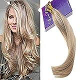 LaaVoo 14 Zoll #P18/613 Ash Blonde Hervorgehoben Brazilian Remy Nano Tip Haar Nano Bead Extensiones 100% Remy Human Hair 50 Gramm