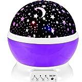 Projektor Lampe 360° Drehen 8 Beleuchtungsmodi LED Stimmungslicht Kinder Dekorative