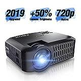 Vidéoprojecteur Natif 720p +50% de luminosité avec Grand Ecran de 176 Pouces Mini projecteur LED...