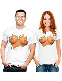 Brüste - Fun T-Shirt, Grössen S-M-L-XL-XXL