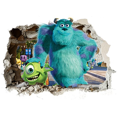 Image of Monsters Inc 3D Smashed Wall Wall Stickers Wall Art Transfers Decals Customise4U™