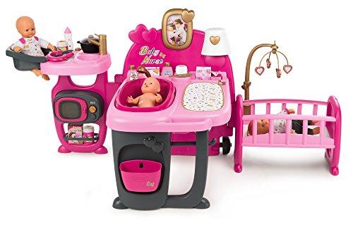 Smoby 220327 Baby Nurse Puppen-Spielcenter, Rosa