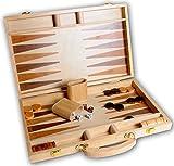 Engelhart Juego de Backgammon de Madera con Incrustaciones