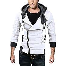6 Farbe Herren Jungen Cosplay Kostüme Hoodie mit Schrägem Reißverschluss Modische Jacke