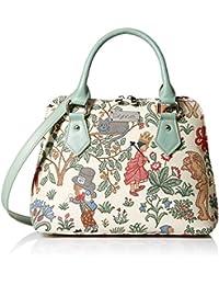 Signare Womens Fashion Canvas Tapestry Convertible Shoulder Handbag in Alice in Wonderland Design