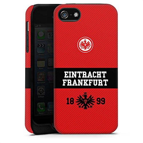 Apple iPhone X Silikon Hülle Case Schutzhülle Eintracht Frankfurt Fanartikel Adler Tough Case matt