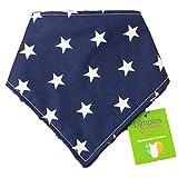 Dimples Hundehalstuch - Blau mit Sternen (Handgemacht für alle Größen und Rassen) 25cm