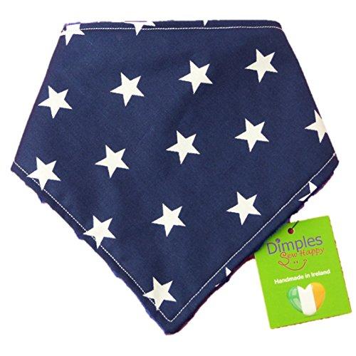 Dimples Bandana de Perro - Estrellas en Azul Marino (Hecho a Mano para Todos los tamaños y Razas) 25cm
