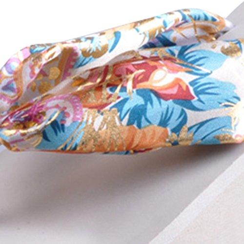 Oasap Femme Tongs Style Bohême Talons Compensés Plage Floral Plate-forme Multicolore