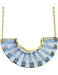 Sarah angold speculo Laser geschnitten Acryl und geätztem Messing Halskette von 25cm