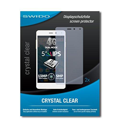 SWIDO Schutzfolie für Allview E4 Lite [2 Stück] Kristall-Klar, Hoher Härtegrad, Schutz vor Öl, Staub & Kratzer/Glasfolie, Bildschirmschutz, Bildschirmschutzfolie, Panzerglas-Folie
