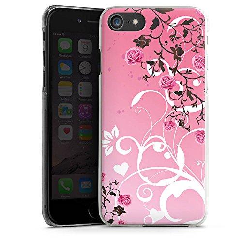 Apple iPhone X Silikon Hülle Case Schutzhülle Rosen Muster Pink Hard Case transparent