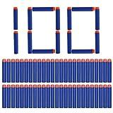 2pz Capacidad de reserva por 12-dardo rápido cargador de recarga clip con 60 piezas 7,2cm Elite dardos de Nerf N-Strike Elite (60 dardos * 2 Modulus Clip reversible)