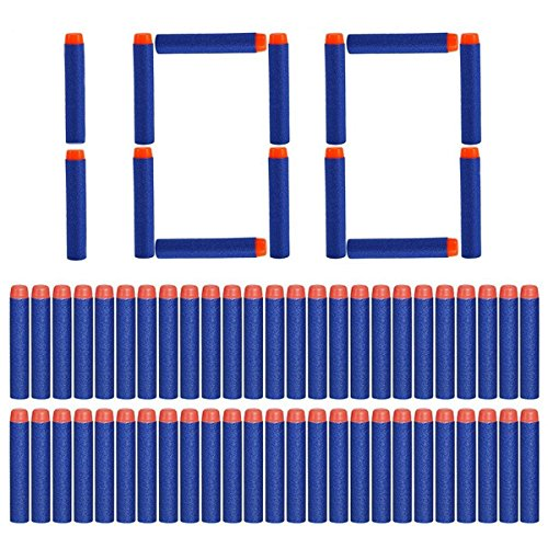100pcs replacement cartridges for gun nerf n-strike elite blu