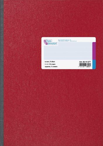 König & Ebhardt 8614277 Geschäftsbuch / Kladde (A4, kariert 70g/m², 72 Blatt, Klebebindung)