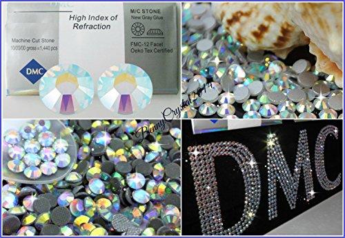 50 STRASS SS30 / 6MM DMC MC QUALITY TERMOADESIVI TERMICI HOTFIX AURORA BOREALE Rhinestone HTF AB Crystal Glass