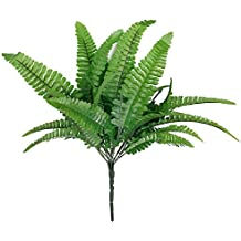 Cesped artificial de plastico - TOOGOO(R) 1 x cesped artificial de plastico de helecho artificial de hojas verdes para hogar y reglo de decoracion de boda