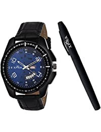 Xpra Analog Day and Date Watch & Metal Pen Combo for Men & Boys (WCH-PN-16)