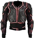 Pro First Motocross Motorrad-Biker-Schutz-Jacke Body Armour Mountain Radfahren Reiten Skaten Snowboarden Track Crash Guard CE-geprüft Red