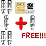[GARANTIA 100% ORIGINAL & PREMIUM] - [5 + 1 GRATIS] Lote de 6 resistencias ASPIRE Nautilus BVC 0.7 ohmios o 1.6 ohmios o 1.8 ohmios AUTHENTIC compatible Aspire Nautilus Mini / Aspire Nautilus / Aspire K3 Starter Kit / Aspire K3 Tank / Nautilus 2 Aluminium Tank / Nautilus 2 Stainless - Puede comprobar el código de seguridad verificable directamente en el sitio web de ASPIRE