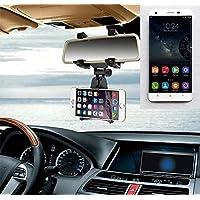 Supporto Smartphone specchietto retrovisore per Oukitel K6000 Pro, nero | Specchio Holder staffa auto - K-S-Trade (TM) - Guida All'acquisto Holder