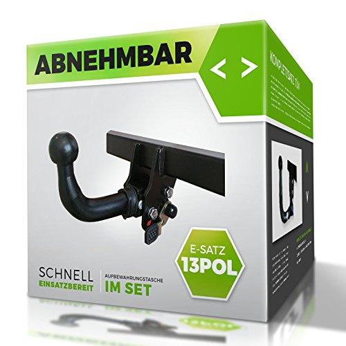 DACIA SANDERO 2008-2012 Anhängerkupplung Abnehmbar Mit S13TT E-satz 13 Pol und Blinküberwachung