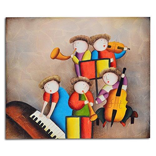 Raybre Art® 50 * 60 cm 100% Dipinti a mano Olio - Quadri su Tela Quadri Astratti Moderni - Decorazione della Parete di Arte Casa Camera dei Bambini, Senza Cornice (Grande