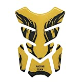KKmoon 3D Motorcycle Fuel Oil Tank Pad Gold Decal Protector Cover Sticker Universal For Honda Yamaha Kawasaki Suzuki