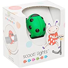 Buggi Lights BUGGISCOOTGR - Luces LED para patinete, color verde y negro