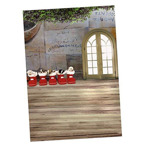 rafie Kulisse Foto Weihnachten Hintergrund, Puppenhaus Dekoration, Puppenstube Zubehör - 30x60 cm ()