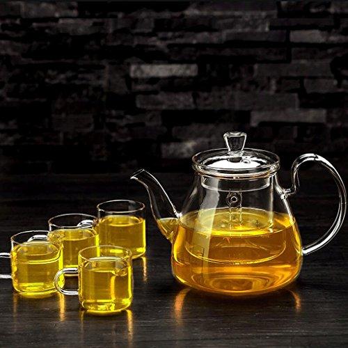 Teekannen Tee Set Brew Tee Wasserkocher Haushaltsfilter Liner Tee-Set Tee-Set 750 ml 2 4 Tasse GAODUZI (UnitCount : B) - Brew-wasserkocher-set
