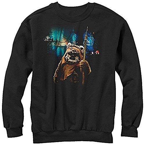 star-wars-tree-village-wicket-ewok-mens-graphic-sweatshirt