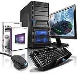 "shinobee Gaming-PC Komplett-PC AMD 8-Kern 8x4.20 GHz, GeForce GTX1060, 22"" LED, Tastatur+Maus, 16GB DDR3, 2TB, Windows10, Gamer PC, Gaming Computer, Desktop PC #5154"