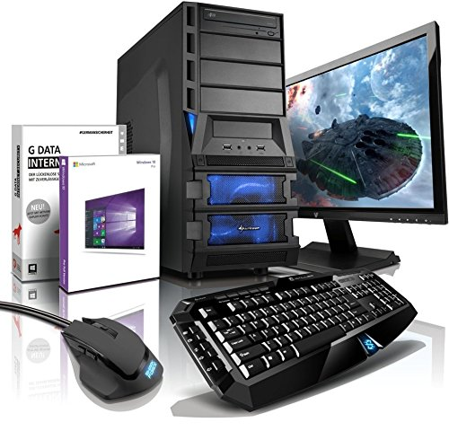 shinobee Gaming-PC Komplett-PC AMD 8-Kern 8×4.20 GHz, GeForce GTX1060, 22″ LED, Tastatur+Maus, 16GB DDR3, 2TB, Windows10, Gamer PC, Gaming Computer, Desktop PC #5154