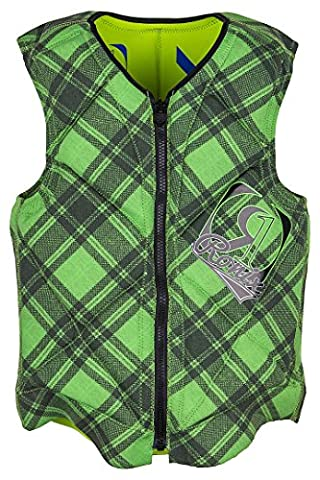 Ronix Party Athletic Cut Reversible Gilet 2016 Mike Citron Vert Plaid/Highlighter Yellow mike lime plaid/highlighter yellow S