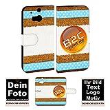 Personalisierte Foto-Handyhülle für HTC -Serie selbst gestalten mit Foto Bild Druck (HTC One M8, Mit eigenes Foto Text Druck)